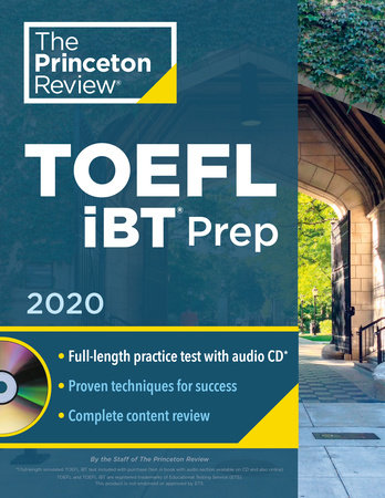 Princeton Review TOEFL iBT Prep with Audio CD, 2020