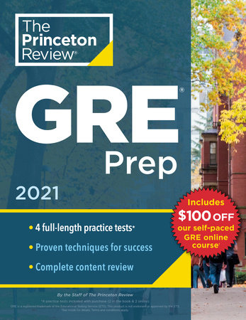 Princeton Review GRE Prep, 2021