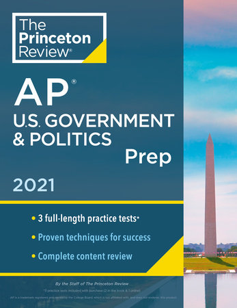 Princeton Review AP U.S. Government & Politics Prep, 2021