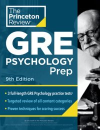 Book cover for Princeton Review GRE Psychology Prep, 9th Edition