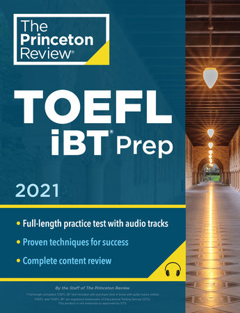 Princeton Review TOEFL iBT Prep with Audio/Listening Tracks, 2021