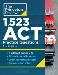 Book cover for 1,523 ACT Practice Questions, 7th Edition