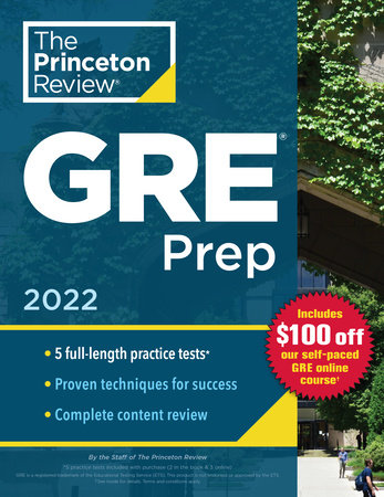 Princeton Review GRE Prep, 2022