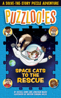 Book cover for Puzzlooies! Space Cats to the Rescue