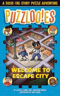 Book cover for Puzzlooies! Welcome to Escape City