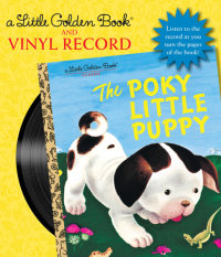 Book cover for The Poky Little Puppy Book and Vinyl Record
