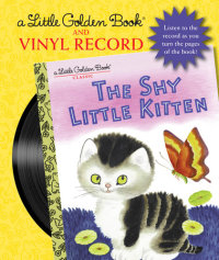 Book cover for The Shy Little Kitten Book and Vinyl Record