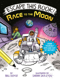 Book cover for Escape This Book! Race to the Moon