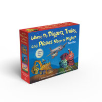Book cover for Where Do Diggers, Trains, and Planes Sleep at Night? Board Book Boxed Set