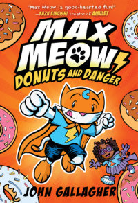 Book cover for Max Meow Book 2: Donuts and Danger