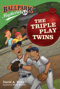 Book cover for Ballpark Mysteries #17: The Triple Play Twins