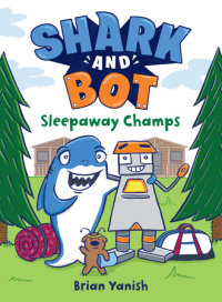 Book cover for Shark and Bot #2: Sleepaway Champs