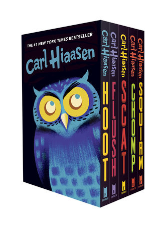 Hiaasen 5-Book Trade Paperback Box Set (Hoot, Flush, Scat, Chomp, Squirm)