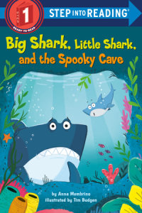 Book cover for Big Shark, Little Shark, and the Spooky Cave