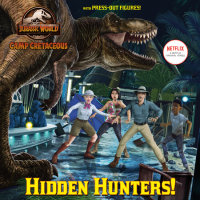 Book cover for Hidden Hunters! (Jurassic World: Camp Cretaceous)