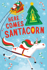 Book cover for Here Comes Santacorn