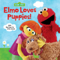 Book cover for Elmo Loves Puppies! (Sesame Street)