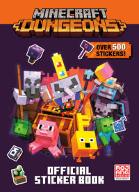 Book cover for Minecraft Official Dungeons Sticker Book (Minecraft)