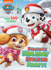 Book cover for Pawsome Holiday Sticker Party! (PAW Patrol)