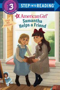 Book cover for Samantha Helps a Friend (American Girl)