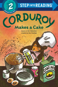 Book cover for Corduroy Makes a Cake