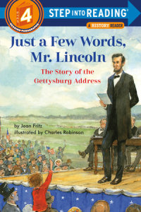 Book cover for Just a Few Words, Mr. Lincoln