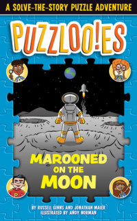 Book cover for Puzzlooies! Marooned on the Moon