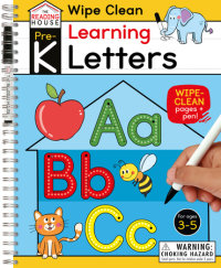 Book cover for Learning Letters (Pre-K Wipe Clean Workbook)
