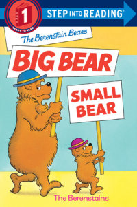 Book cover for The Berenstain Bears\' Big Bear, Small Bear