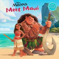 Book cover for Meet Maui (DIsney Moana)