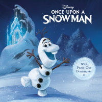 Book cover for Once Upon a Snowman (Disney Frozen)