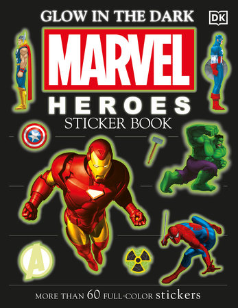 Ultimate Sticker Book: Glow in the Dark: Marvel Heroes