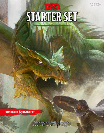 Dungeons & Dragons Starter Set (Six Dice, Five Ready-to-Play D&D Characters With Character Sheets, a Rulebook, and One Adventure)