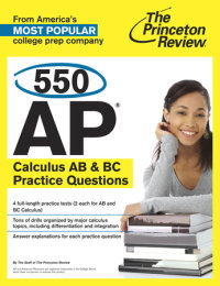 Book cover for 550 AP Calculus AB & BC Practice Questions