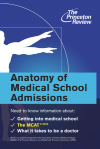Book cover for Anatomy of Medical School Admissions