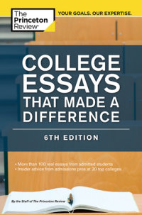 Book cover for College Essays That Made a Difference, 6th Edition