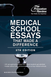 Book cover for Medical School Essays That Made a Difference, 5th Edition
