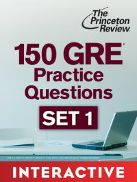 Book cover for 150 GRE Practice Questions, Set 1 (Interactive)