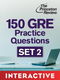 Book cover for 150 GRE Practice Questions, Set 2 (Interactive)