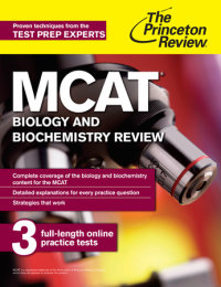Book cover for MCAT Biology and Biochemistry Review