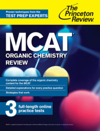 Book cover for MCAT Organic Chemistry Review