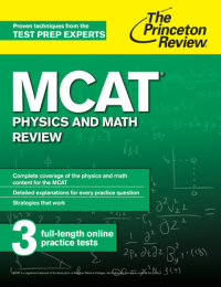Book cover for MCAT Physics and Math Review