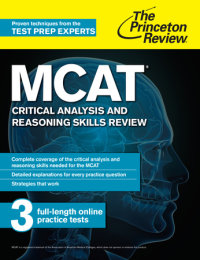 Book cover for MCAT Critical Analysis and Reasoning Skills Review