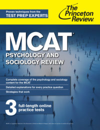 Book cover for MCAT Psychology and Sociology Review