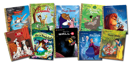 Disney Movies Little Golden Book Bundle 35-copy set