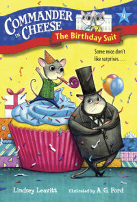 Book cover for Commander in Cheese #4: The Birthday Suit