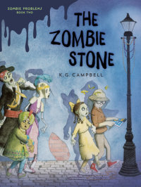 Book cover for The Zombie Stone