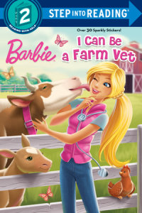 Book cover for I Can Be a Farm Vet (Barbie)