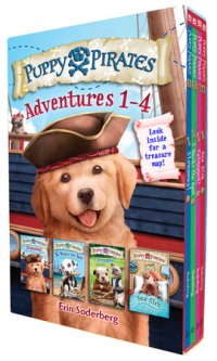 Book cover for Puppy Pirates Adventures 1-4 Boxed Set