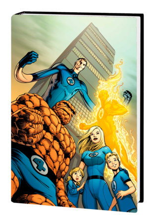 FANTASTIC FOUR BY JONATHAN HICKMAN OMNIBUS VOL. 1 HC DAVIS FIRST ISSUE COVER [NEW PRINTING]